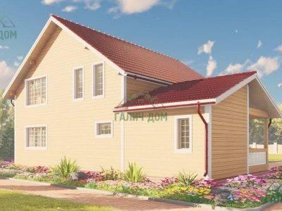 Картинка (3) Дом из бруса 10 на 13 (ДБ-62)