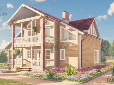 Картинка (4) Проект большого дома из бруса 11 на 9 (ДБ-63)