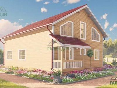 Картинка (3) Проект дома из бруса 10х13 с верандой (ДБ-64)