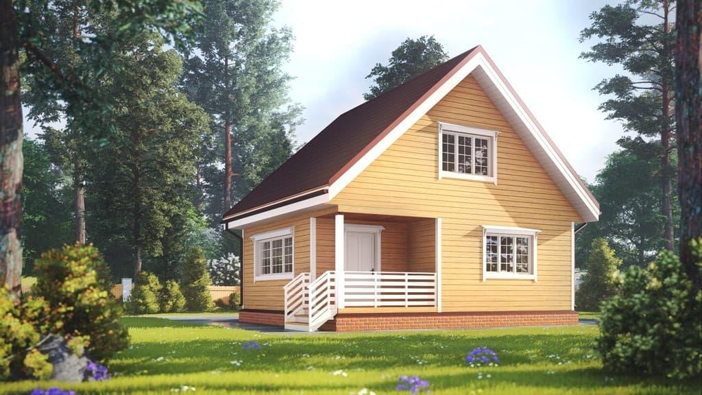 Картинка (1) Дачный дом из бруса 7х8 (ДБ-178)