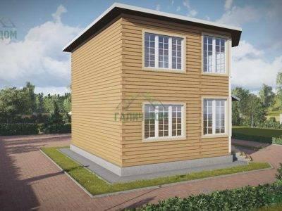 Картинка (5) Проект двухэтажного дома 8х8 из бруса (ДБ-69)