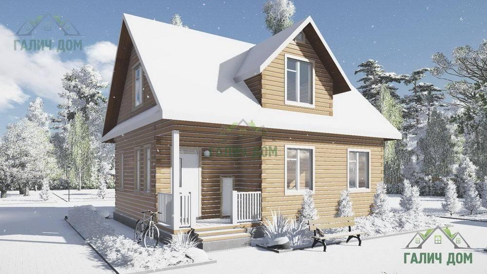 Картинка (1) Дом из бруса 7 на 9 с мансардой