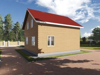 Картинка (2) Брусовой дом 9 на 10 (ДБ-85)