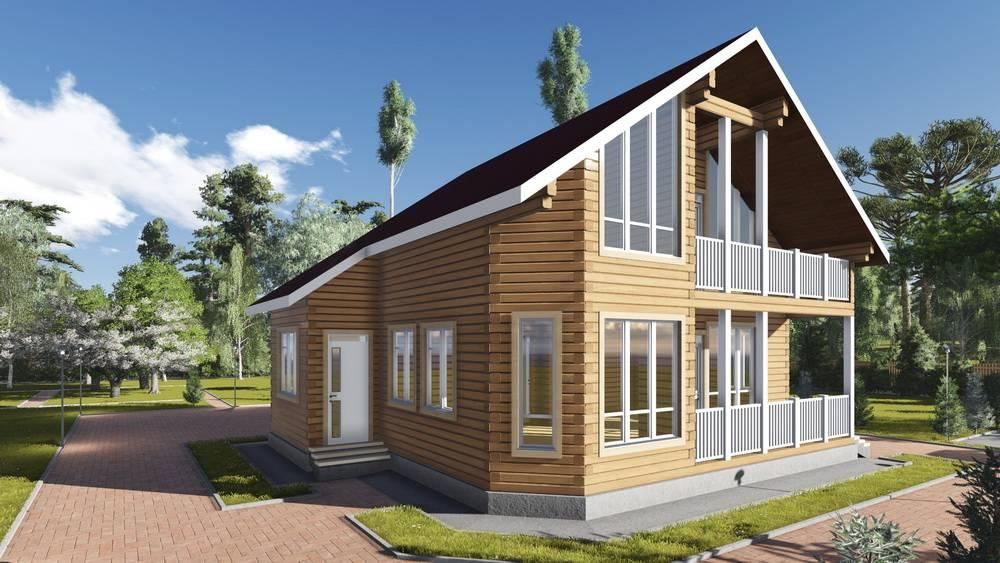 Картинка (1) Брусовой дом 10х9 с отличной планировкой (ДБ-86)