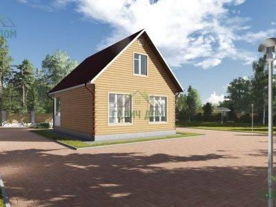 Картинка (2) Брусовой дом 7х9 с мансардой (ДБ-87)