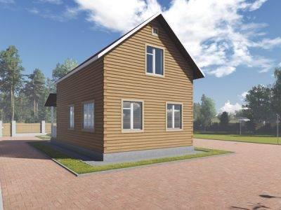 Картинка (2) Брусовой дом 6х11 (ДБ-89)