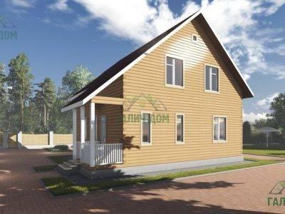 Картинка (3) Полутораэтажный брусовой дом 9х10 (ДБ-92)