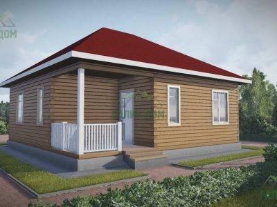 ДБ-79 | Одноэтажный дом из бруса 9х9