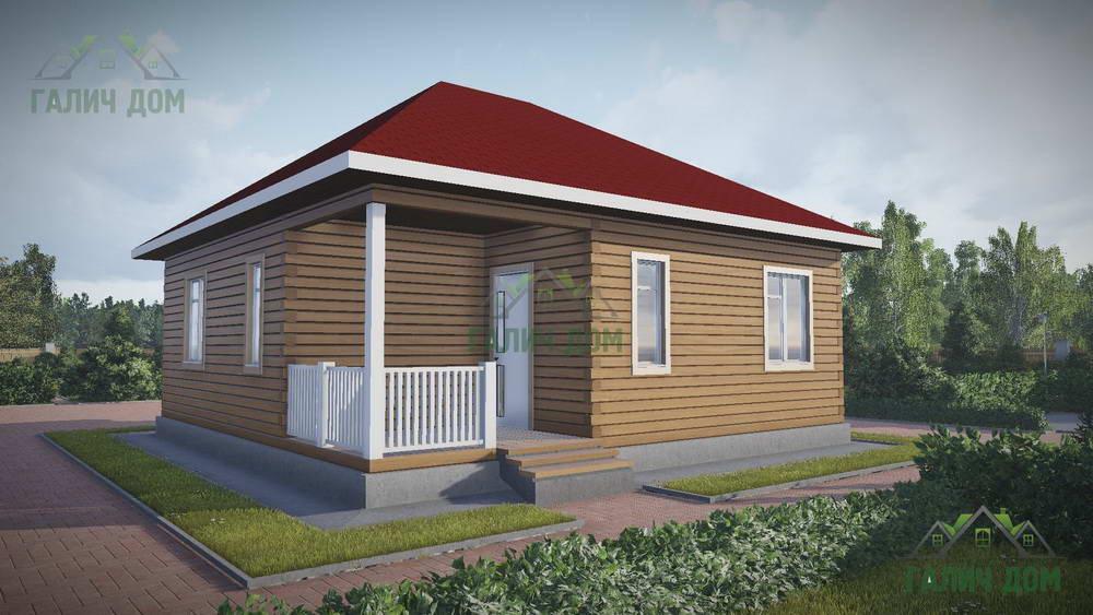 Картинка (1) Одноэтажный дом из бруса 9х9 (ДБ-79)