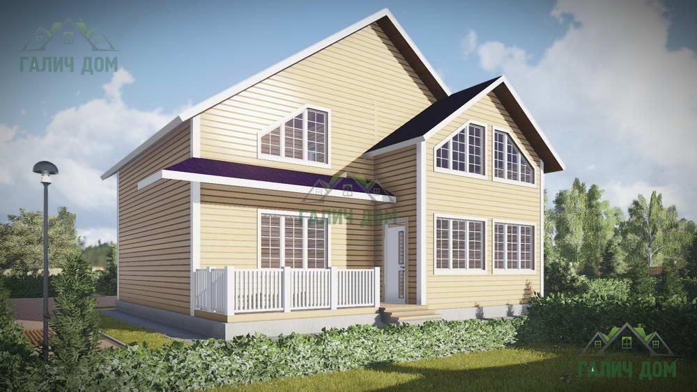 Картинка (1) Двухэтажный дом из бруса 9 на 10 (ДБ-54)