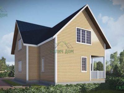 Картинка (4) Проект дачного дома из бруса 10х10 (ДБ-57)