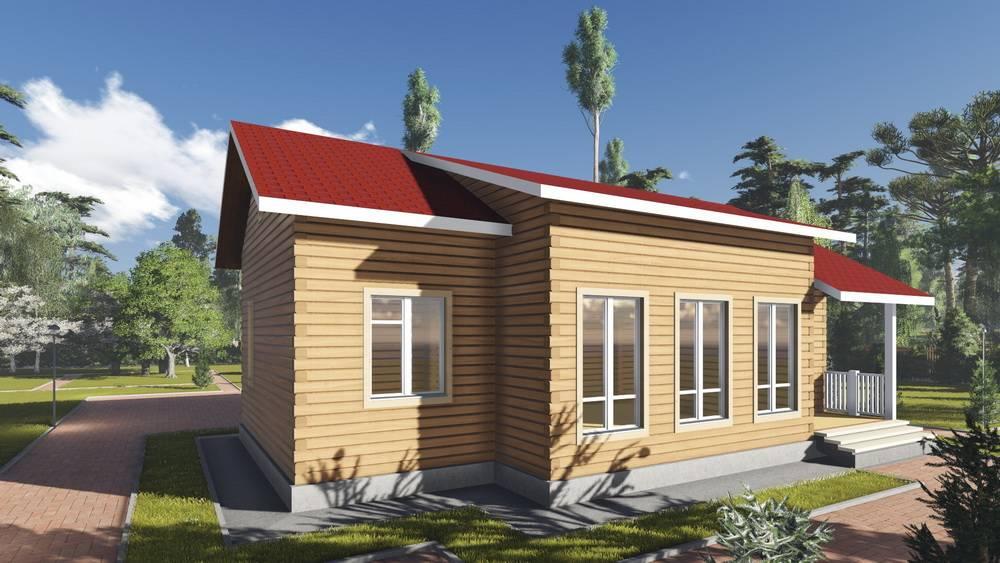 Картинка (1) Одноэтажный дом из бруса 9 на 12 (ДБ-93)