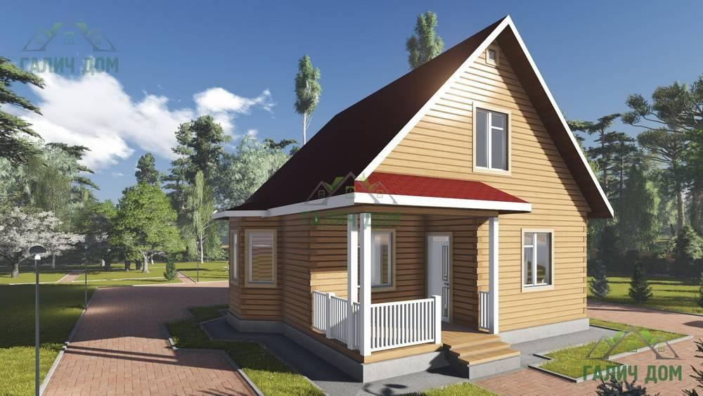 Картинка (1) Брусовой дом 8х9 с мансардой (ДБ-95)
