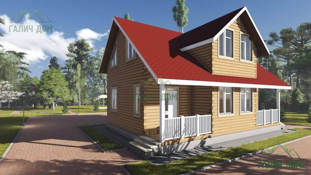 Картинка (1) Брусовой дом 7х10 с двумя входами (ДБ-98)