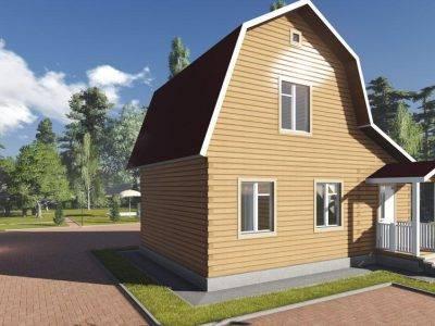 Картинка (4) Проект брусового дома 7 на 9 (ДБ-99)