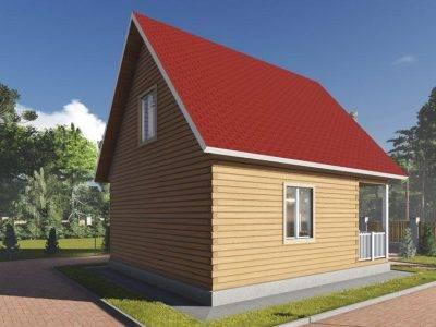 Картинка (3) Дом 7х8 с мансардой (ДБ-100)