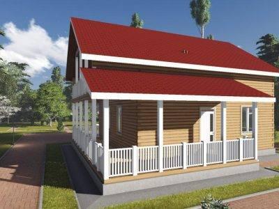 Картинка (2) Дом из бруса 10х11 с террасой (ДБ-101)