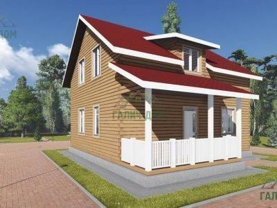 Картинка (4) Проект загородного дома 8 на 9 (ДБ-104)