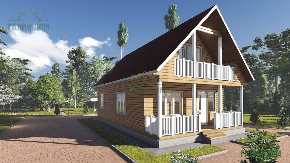Картинка (1) Дом из бруса 7 на 12 с мансардой (ДБ-15)