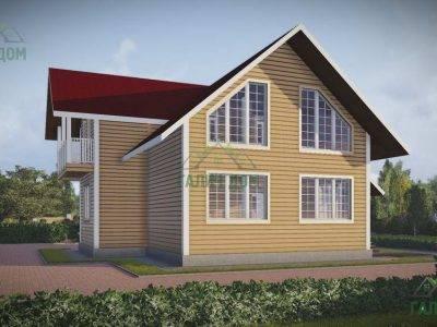 Картинка (4) Проект дома из бруса 9х11 (ДБ-45)