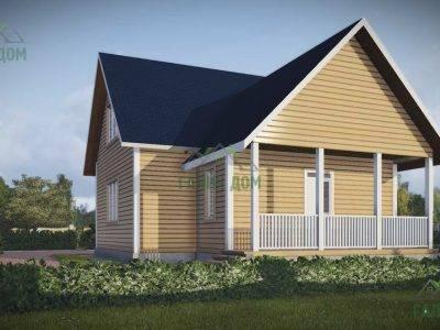 Картинка (4) Проект дома из бруса 10х11 с мансардой и террасой (ДБ-46)