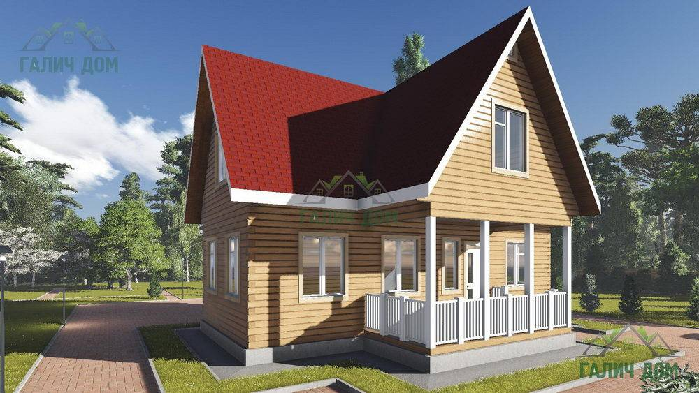Картинка (1) Дом из бруса 10х11 с мансардой (ДБ-17)