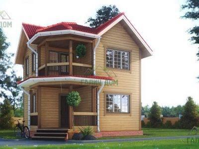 ДБ-163 | Двухэтажный дом из бруса 7х7