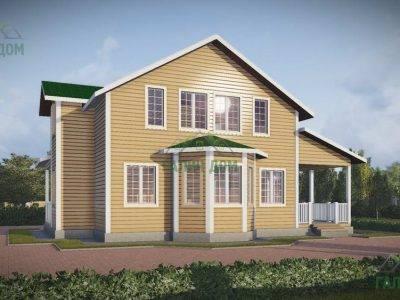 Картинка (4) Проект дома из бруса 9х13 с эркером (ДБ-47)