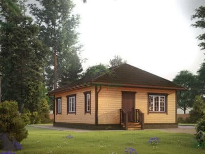 Картинка (3) Проект одноэтажного дома 7х9 (ДБ-177)