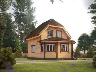 Картинка (2) Дом из бруса 6х9 (ДБ-32)