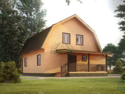 ДБ-125 | Дом из бруса 10х11 с мансардой