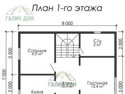 Картинка (5) План 1 этажа (ДБ-10)