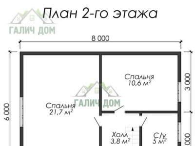 Картинка (6) Планировка 2-го этажа (ДБ-30)