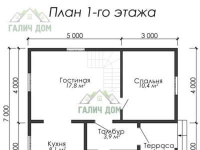 Картинка (5) План 1 этажа (ДБ-11)