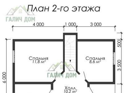Картинка (6) План 2 этажа (ДБ-11)