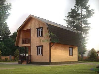 Картинка (3) Проект дома 7 на 8 с мансардой (ДБ-11)