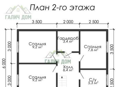 Картинка (6) План 2 этажа (ДБ-12)