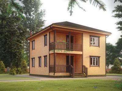 ДБ-70 | Двухэтажный дом из бруса 8х9
