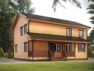 ДБ-71 | Деревянный дом из бруса 11 на 12