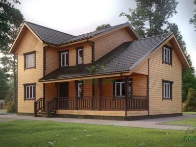 ДБ-72 | Двухэтажный дом из бруса 9х12