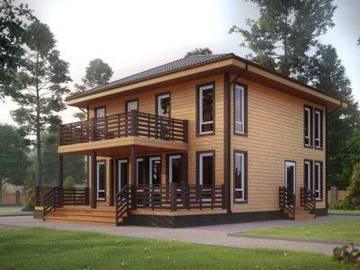 ДБ-174 | Проект двухэтажного дома 9х9