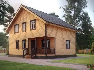 ДБ-179 | Красивый дом из бруса 8х9