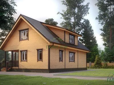 Картинка (2) Дом из бруса 8 на 11 (ДБ-18)