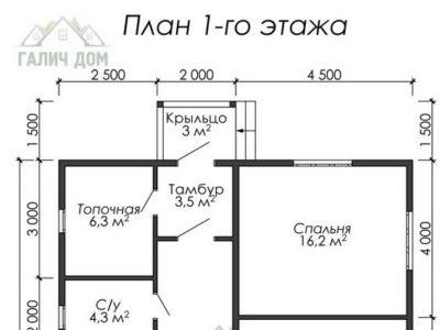 Картинка (5) Планировка 1-го этажа (ДБ-19)