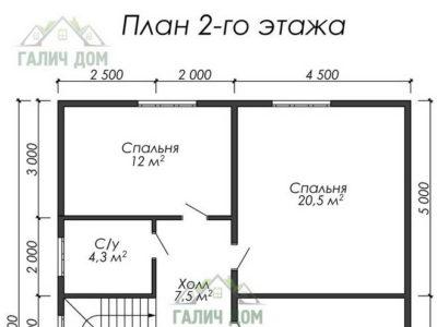 Картинка (6) Планировка 2-го этажа ДБ-19)