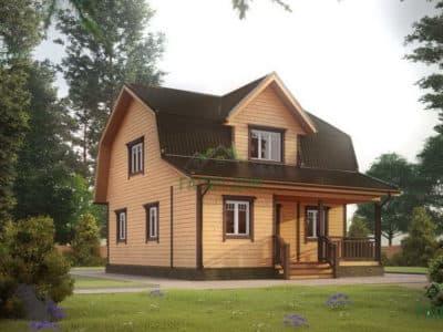 Картинка (2) Дом из бруса 7х8 (ДБ-10)