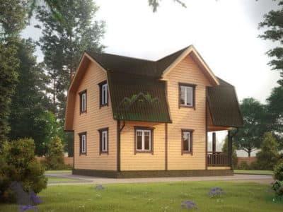 Картинка (2) Дом из бруса 7 на 8 (ДБ-11)
