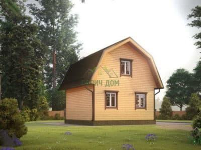 Картинка (4) Дом 6 на 6 с ломаной крышей (ДБ-7)