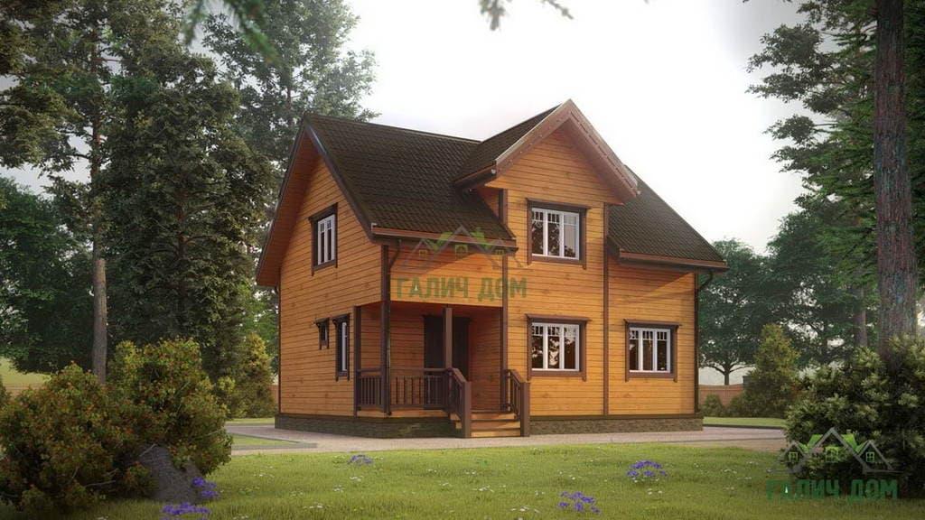 Картинка (1) Брусовой дом 7х9 (ДБ-180)