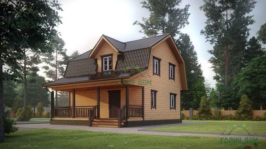 Картинка (1) Дом из бруса 8х9 с террасой (ДБ-12)